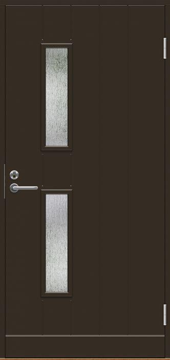Ulko-ovi Jeld-Wen B0028 Tummanruskea