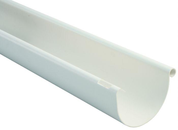 Puolipyöreä räystäskouru Marley 100 mm 2 m valkoinen