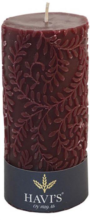 Pöytäkynttilä Havi's Indigo 7 x 14 cm viininpunainen