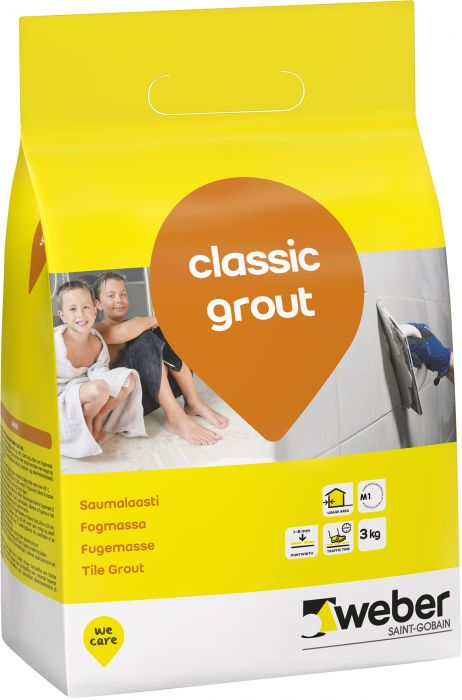 Saumalaasti Weber Classic Grout 3 kg