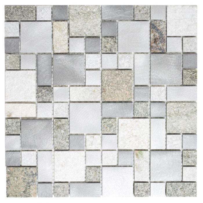 Mosaiikki Luonnonkivi/metalli Neliö