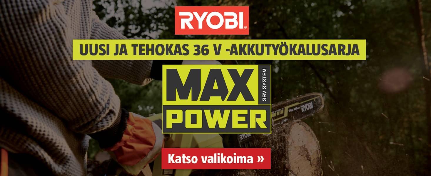 Ryobi Max Power työkalut