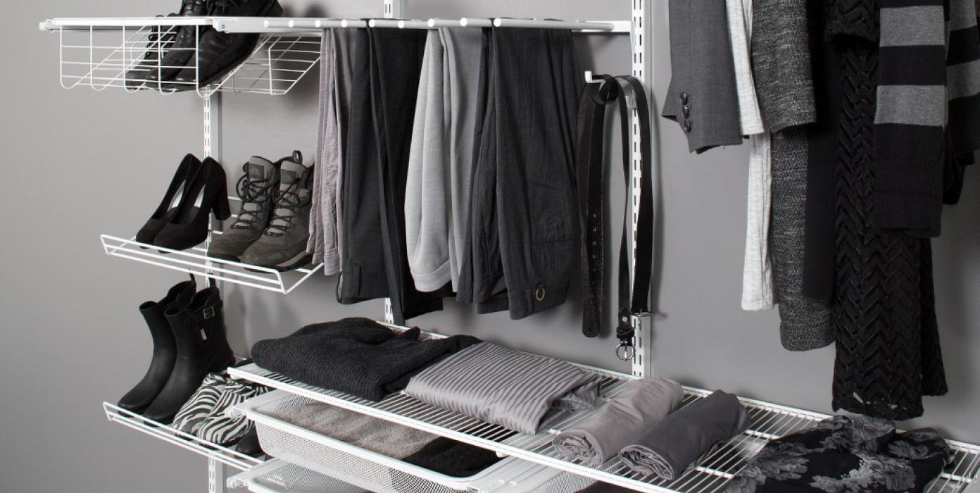 Säilytysjärjstelmällä vaatteet pysyvät siistissä järjestyksessä