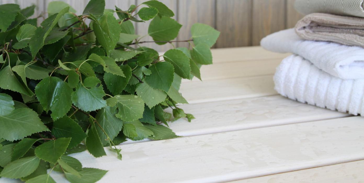 Saunavaha soveltuu käytettäväksi lattiasta kattoon