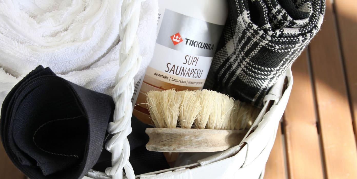 Puhdista sauna sekä kosteat tilat puhtaaksi